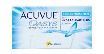 Acuvue Oasys com Hydraclear Plus para Astigmatismo