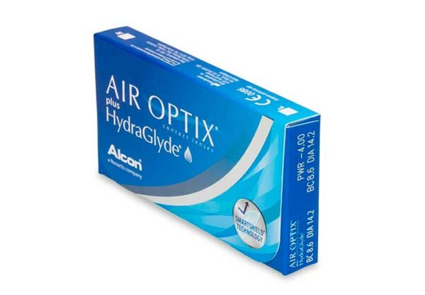 Lentes-de-Contato-Air-Optix-Hydraglyde-Alcon-Lateral